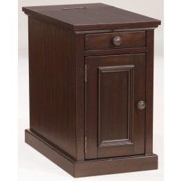 Dark Brown Power Chairside End Table