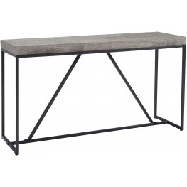 Brazin Sandblasted Gray Console Table