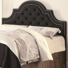 Ojai Charcoal Upholstered Full/Queen Tufted Headboard