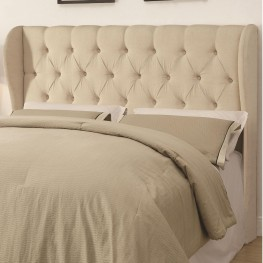 Murrieta Beige Upholstered Full/Queen Tufted Headboard