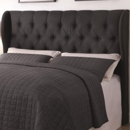 Murrieta Charcoal Upholstered Full/Queen Tufted Headboard