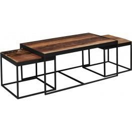 Reclaimed Gunmetal Nesting Tables Set of 3