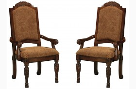 North Shore Upholstered Arm Chair Set of 2