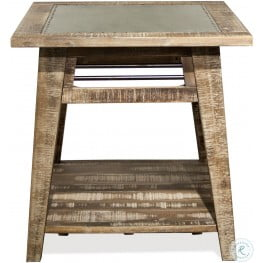 Rowan Rough Hewn Gray Round End Table
