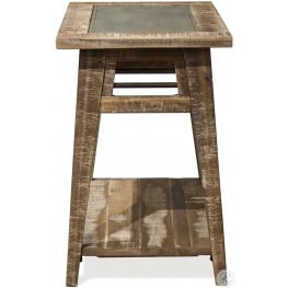 Rowan Rough Hewn Gray Chairside Table