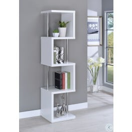 White Four Tier Bookcase