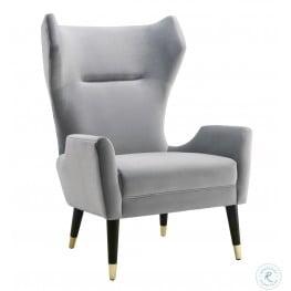 Logan Gray Velvet Chair
