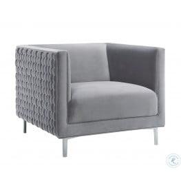 Sal Gray Woven Chair