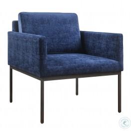 Canton Navy Velvet Chair