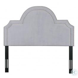 Laylah Grey Velvet Queen Platform Headboard