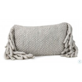 Afrino Grey Wool Grey Pillow
