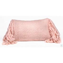 Afrino Blush Wool Blush Pillow