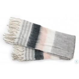 Afrino Grey and White Throw