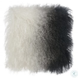 Tibetan White and Black Sheep Pillow