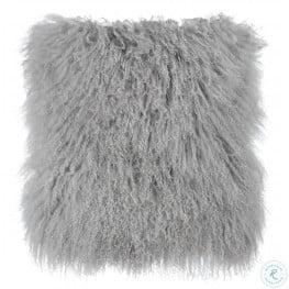 Tibetan Sheep Gray Pillow