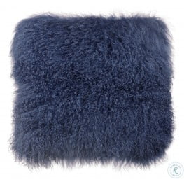 Tibetan Sheep Blue Large Pillow