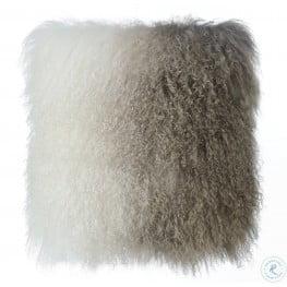 Tibetan Sheep White and Brown Pillow