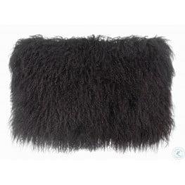 Tibetan Sheep Dark Gray Long Pillow