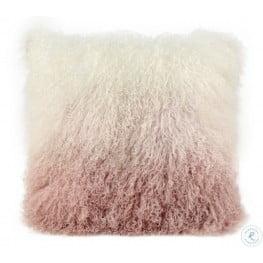 Tibetan White and Blush Sheep Pillow
