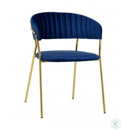 Padma Navy Velvet Chair Set of 2
