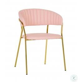 Padma Blush Vegan Leather Chair Set of 2