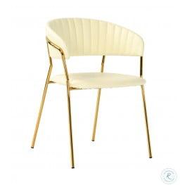 Padma Cream Vegan Leather Chair Set of 2
