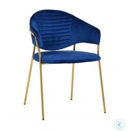 Cay Navy Velvet Chair Set of 2
