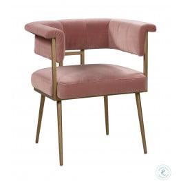 Astrid Blush Velvet Chair
