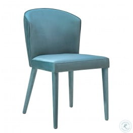 Metropolitan Sea Blue Velvet Chair