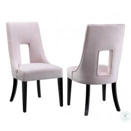 Lipstick Blush Velvet Dining Chair Set of 2