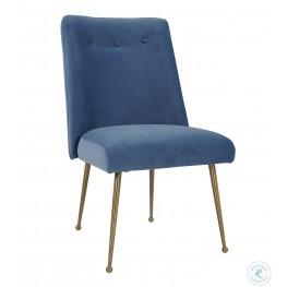 Batik Ocean Blue Velvet Dining Chair