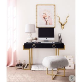 Majesty Black and Gold Home Office Set