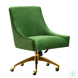 Beatrix Green Adjustable Swivel Office Chair