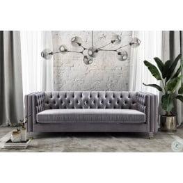Rimini Grey Velvet Sofa