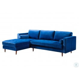 Como Blue Velvet LAF Sectional