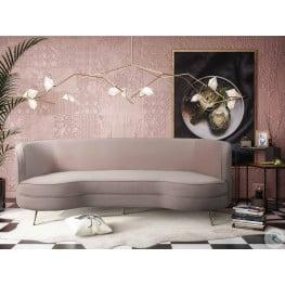 Flare Blush Velvet Sofa