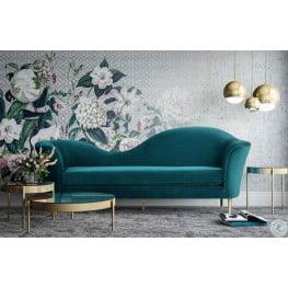 Plato Aqua Velvet Sofa