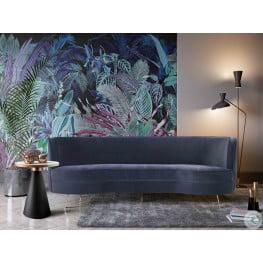 Flare Dark Grey Velvet Sofa
