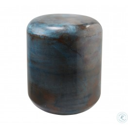 Bohemia Blue Steel Stool