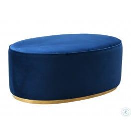 Scarlett Blue Ottoman