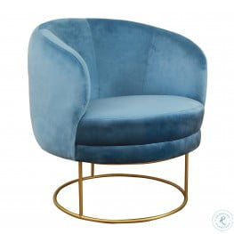 Bella Blue Velvet Chair