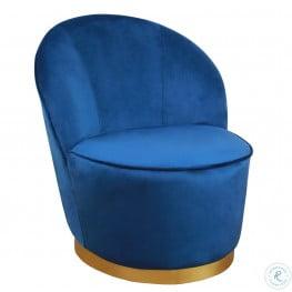 Julia Navy Velvet Junior Chair
