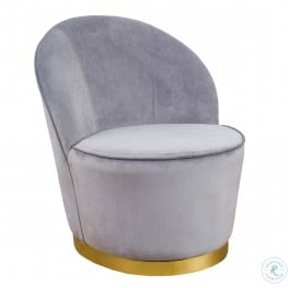 Julia Grey Velvet Youth Chair