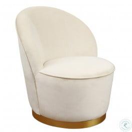 Julia Ivory Velvet Youth Chair