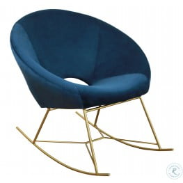 Nolan Navy Velvet Chair