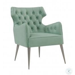 Elsa Mint Vegan Leather Chair
