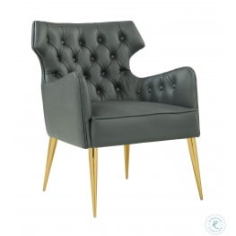 Elsa Grey Vegan Leather Chair