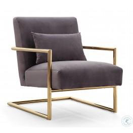 Elle Grey Velvet Chair