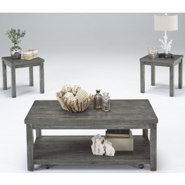 Silverton II Dove Gray 3 Piece Occasional Table Set