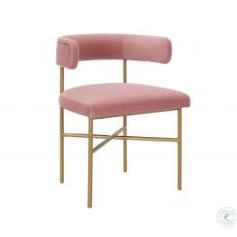 Kim Blush Performance Velvet Chair